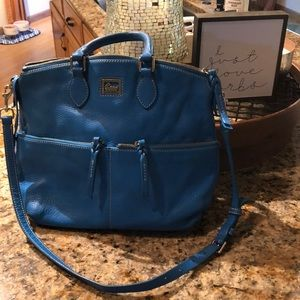 Gorgeous turquoise pebble leather Dooney Bourke